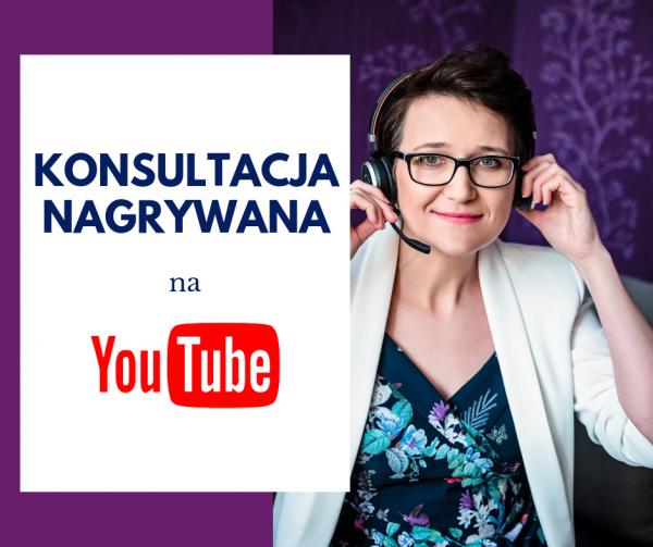 Konsultacja nagrywana na YouTube 1